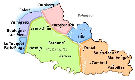 France nord pas de calais chambres hotes et location - Chambre d hote nord pas de calais bord de mer ...