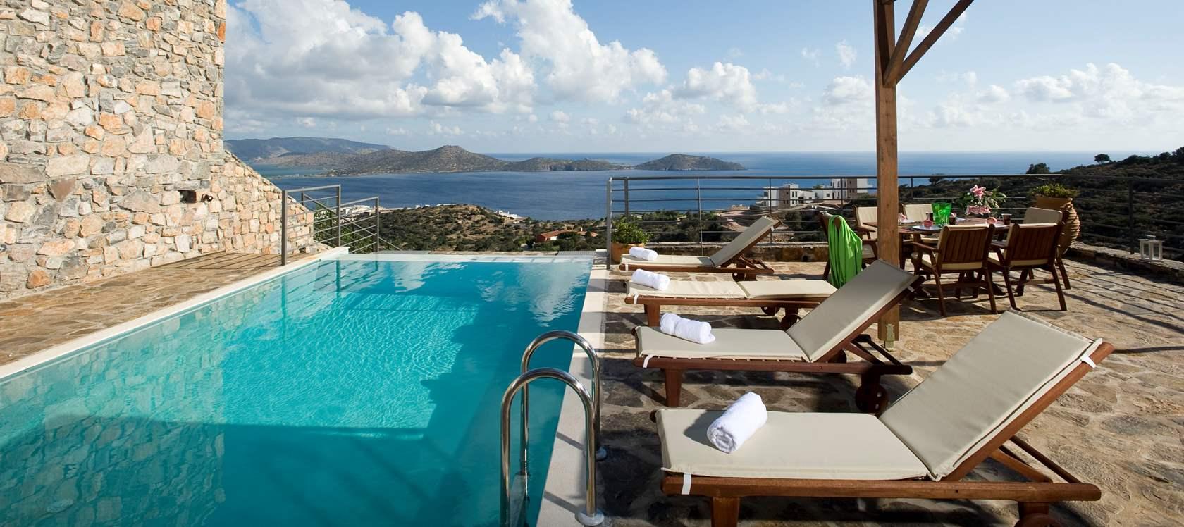 Grece location vacances villa crete elounda for Location villa
