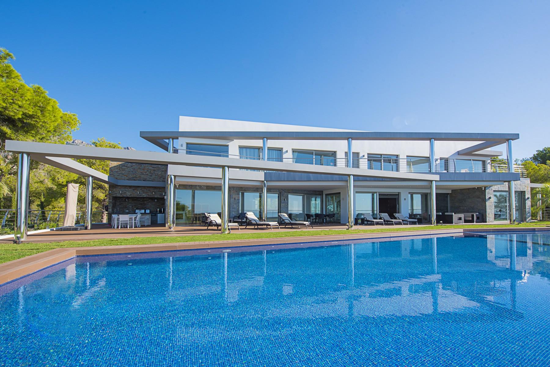 Costa blanca location villa luxe altea avec piscine chauff e vue for Villa de luxe canada