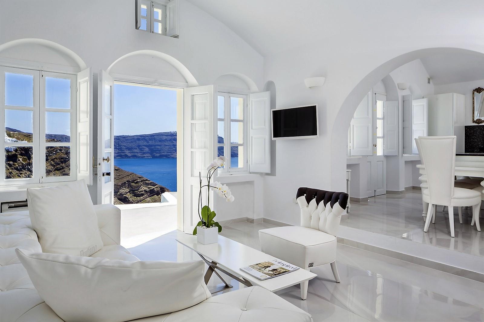 Grece Santorin Location Villa De Luxe Avec Vue Mer Et Piscine Privee