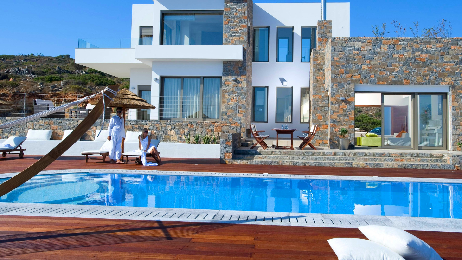 Grece location vacances villa crete elounda for Villa piscine privee