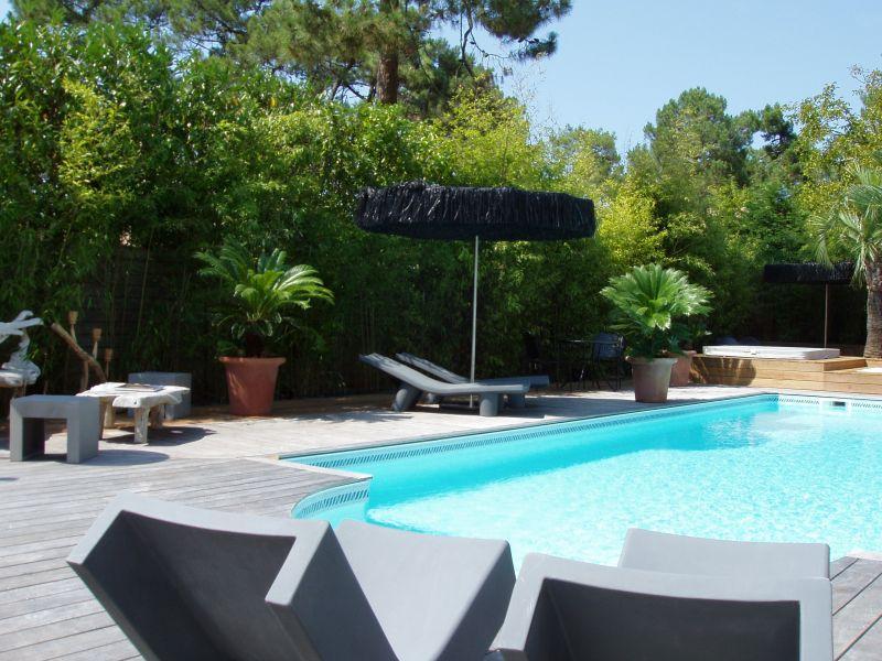 arcachon location villa de luxe avec piscine chauffe arcachon en gironde - Location Maison Vacances Piscine Prive