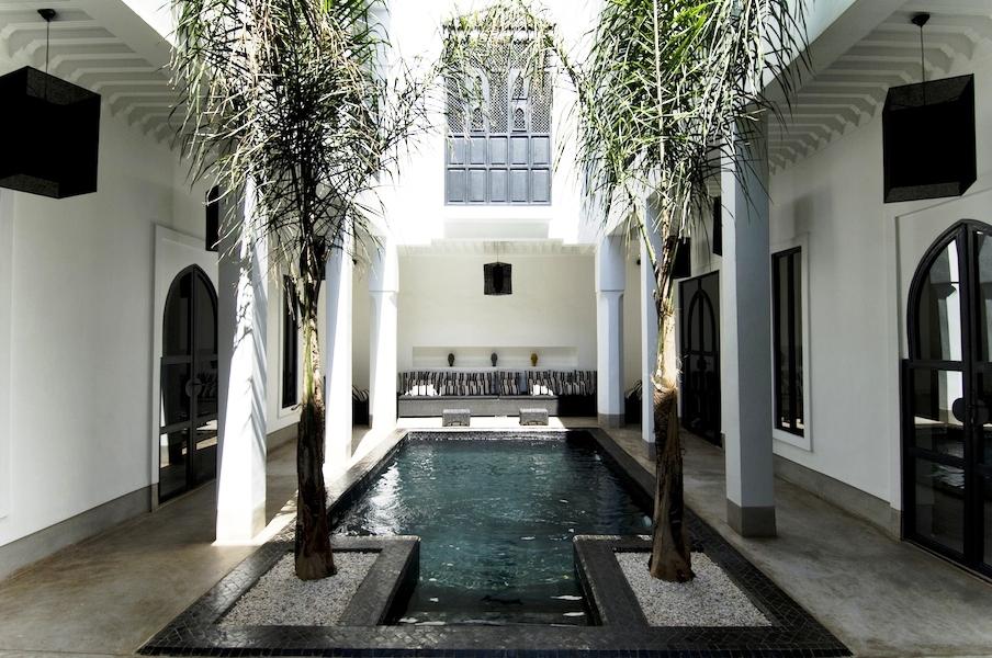 Chambres d 39 h tes m dina marrakech en riad avec piscine for Riad piscine privee marrakech
