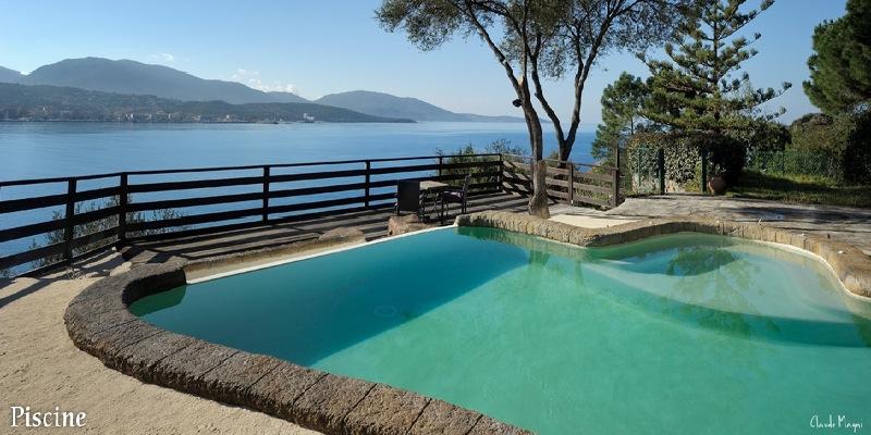 Location vacances propriano villa de caractere vue mer exceptionnelle for Villa vacances piscine