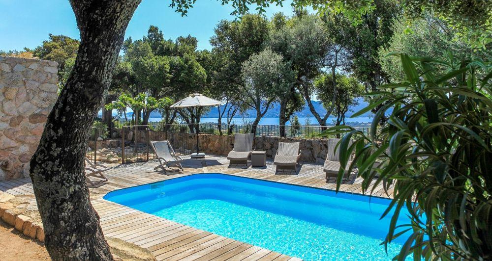 Location vacances villa porto vecchio 6 pers avec piscine privee vue for Location villa