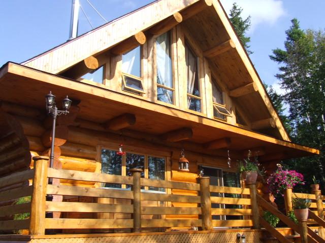 quebec sainte agathe chalet location et vente de chalet maison en bois rond en laurentides. Black Bedroom Furniture Sets. Home Design Ideas