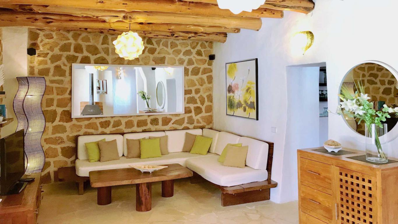 Location villa de luxe ibiza piscine priv e cala vadella iles bal ares - Maison de charme rustique baleares ibiza ...