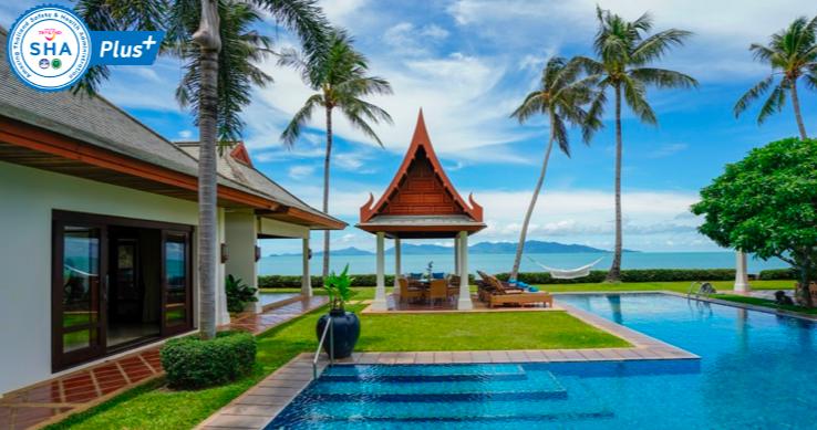 Thailande location vacances villa kho samui maenam beach for Villa luxe mer