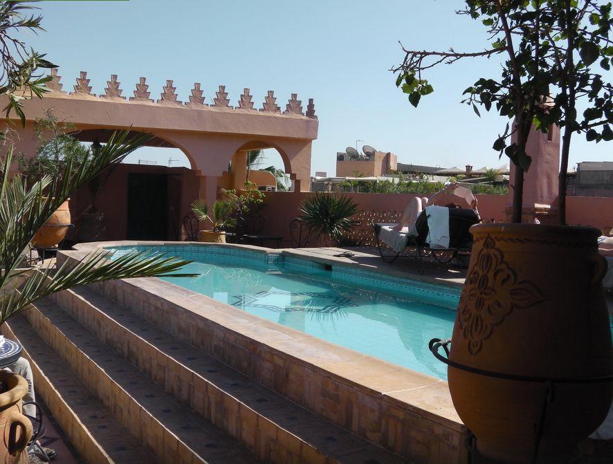 Chambres d 39 h tes marrakech en riad avec piscine for Riad marrakech piscine chauffee