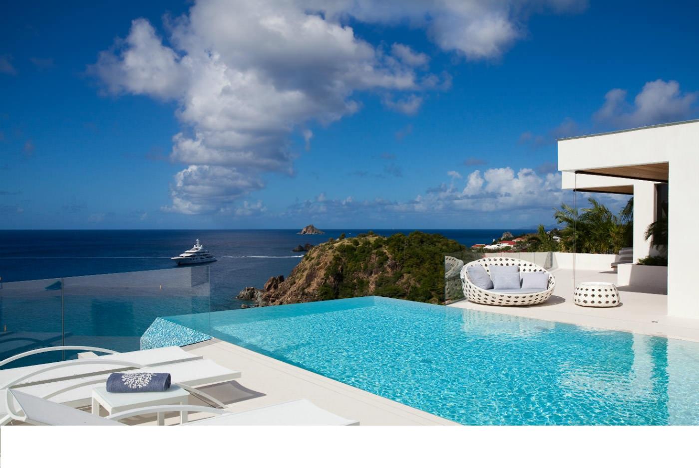 Location saint barthelemy villa de luxe avec piscine priv e st barth for Villa luxe mer