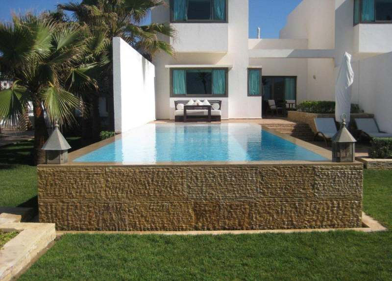 Location villa de luxe sur la plage d 39 agadir maroclocation for Location villa avec piscine agadir