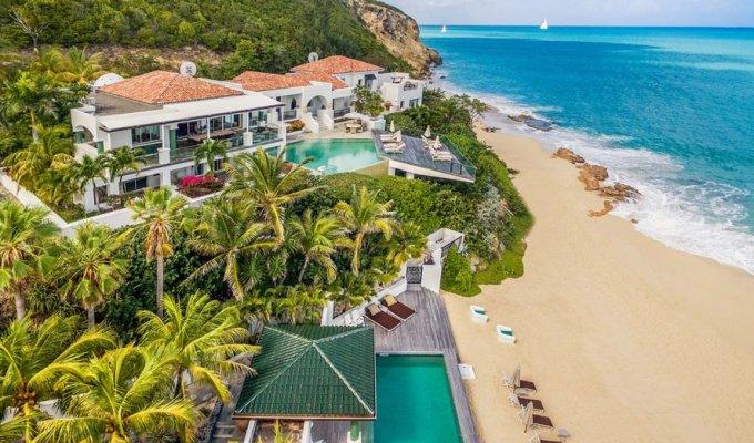 Location villa de luxe sur la plage baie rouge saint martin terres for Villa de luxe canada