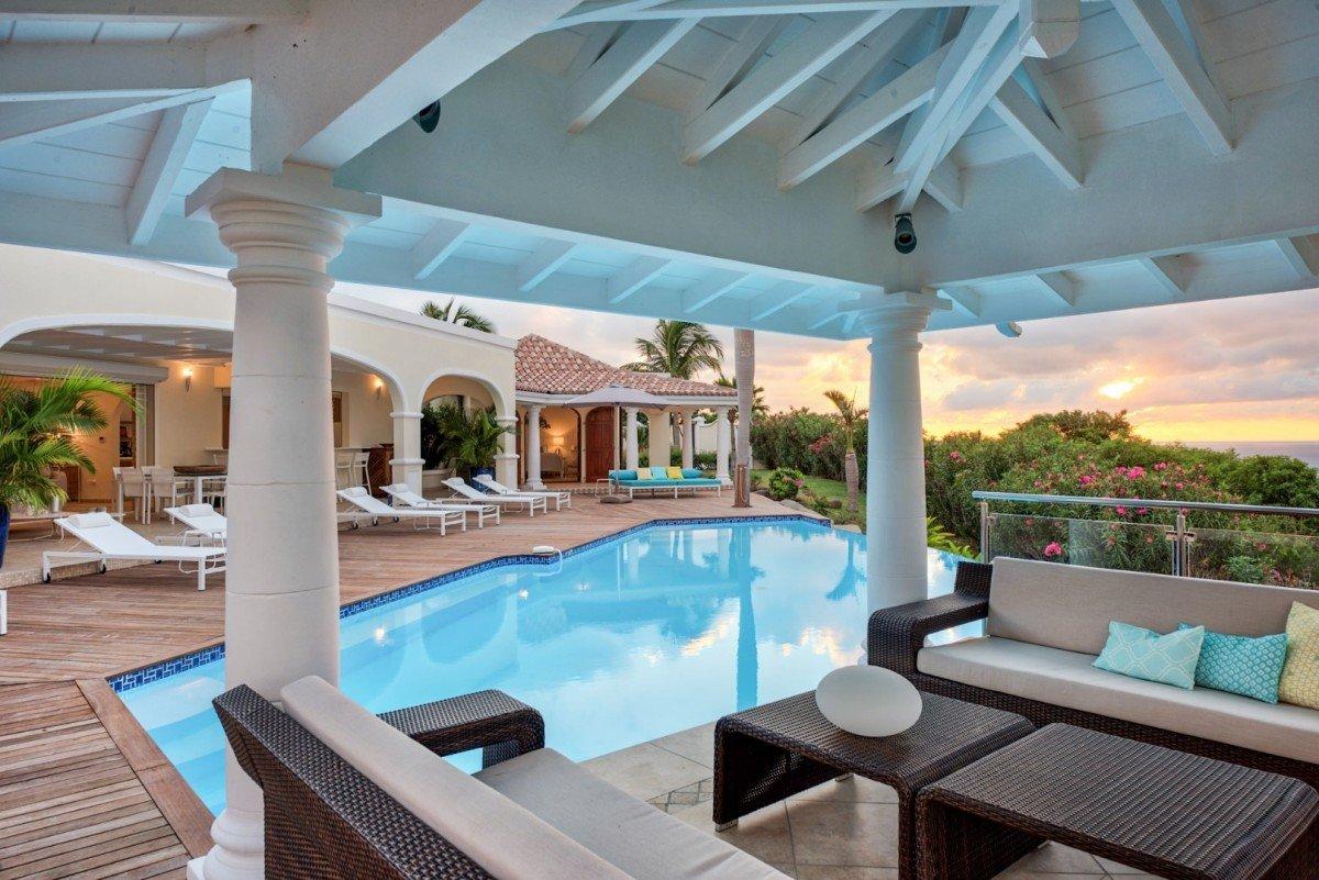 Location villa de luxe vue mer et piscine saint martin happy bay for Villa luxe mer