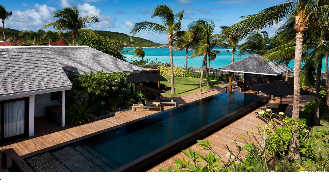 Location villa de luxe st barth sur la plage de st jean for Piscine privee