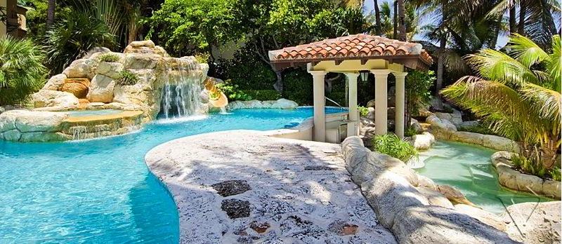 Location villa de luxe miami beach pr s de star island - Location villa miami avec piscine ...