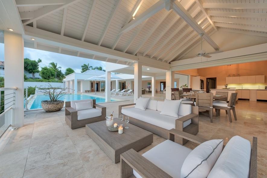 Location villa de luxe pour mariage et réception à st martin