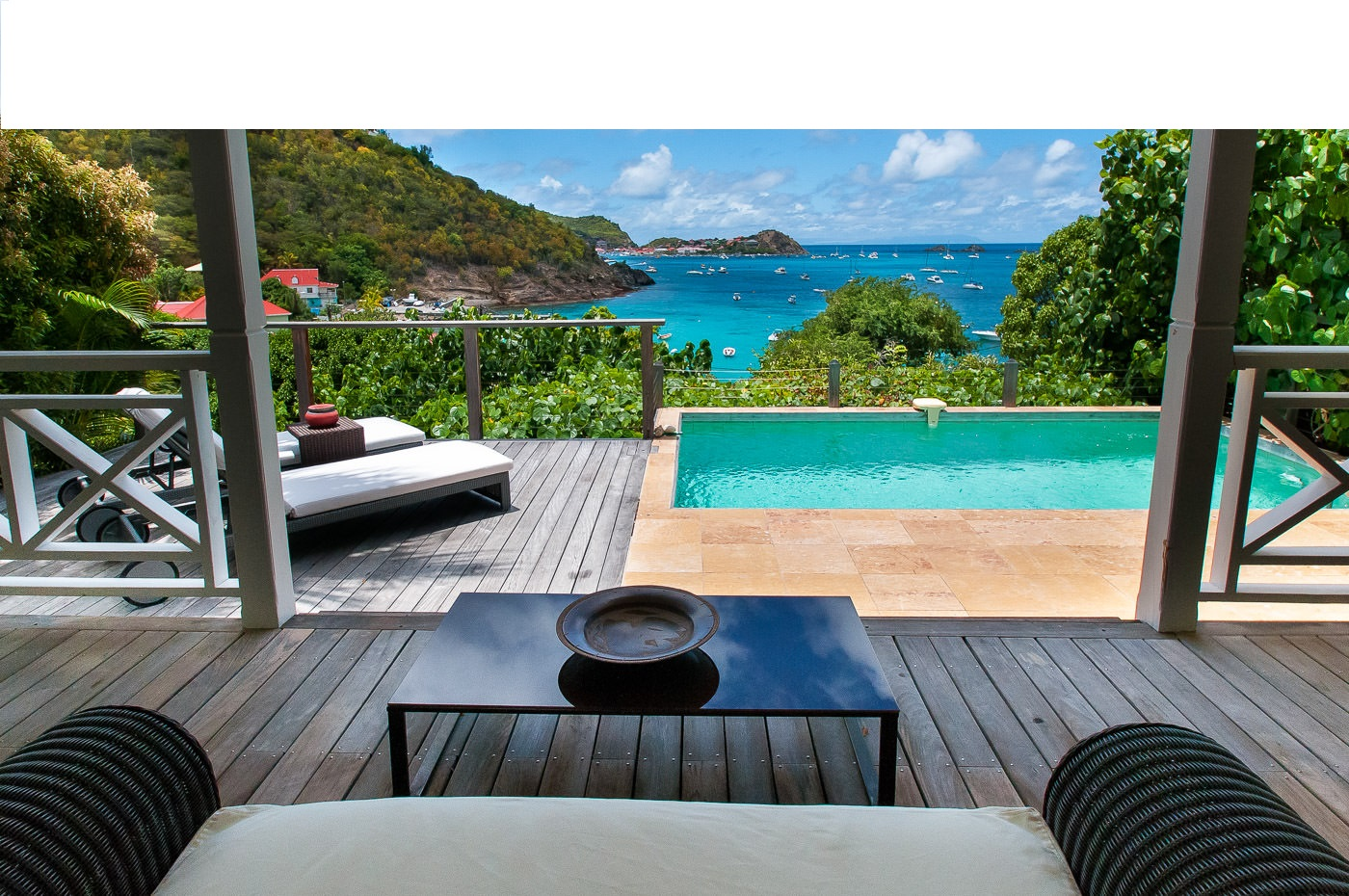 Location st barth l my bungalow avec piscine priv e et - Bungalow guadeloupe piscine privee ...