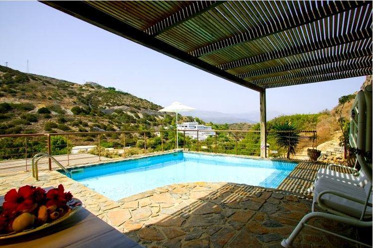 Location villa avec piscine priv e en cr te pour passer - Villa piscine privee ...