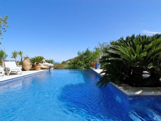 location villa de luxe ibiza piscine priv e bord de mer san agustin. Black Bedroom Furniture Sets. Home Design Ideas