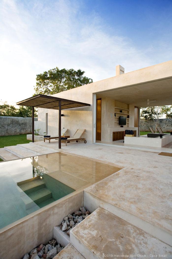 Location villa de luxe avec piscine proche merida yucatan for Casa moderna tunisie