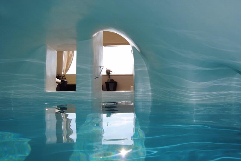 Location Villa De Luxe Santorin  Avec Piscine Chauff U00e9e